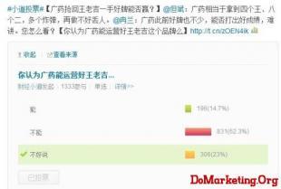 六成网民不看好广药运作王老吉 被指缺乏核心团队