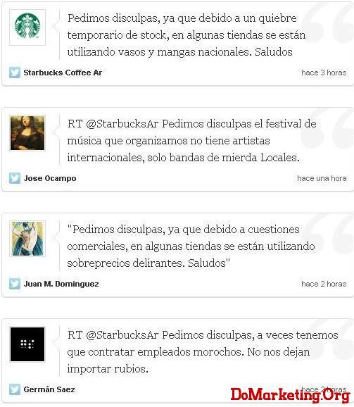 星巴克阿根廷:祸从口出,微力无边