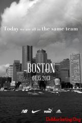 耐克、阿迪达斯、纽巴伦和彪马四大运动品牌联合发布力挺波士顿广告